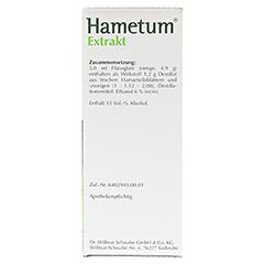 Hametum Extrakt 250 Milliliter - Rechte Seite