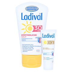 LADIVAL empfindliche Haut Creme LSF 30 + gratis Ladival Anti-Pigment Creme LSF 30 (5 ml) 50 Milliliter