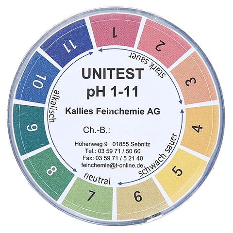 UNITEST I Indikatorpapier pH 1-11 Dose 5 Meter