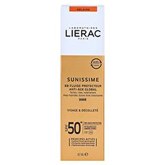 LIERAC Sunissime BB Schutzfluid LSF 50 dore 40 Milliliter - Rückseite