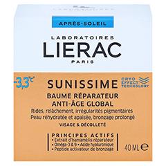 LIERAC Sunissime Gesicht After Sun Balsam 40 Milliliter - Rückseite