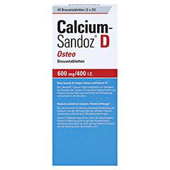 Calcium-Sandoz D Osteo 600mg/400I.E. 40 Stück - Rückseite