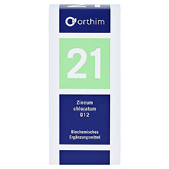 BIOCHEMIE Orthim 21 Zincum chloratum D 12 Tabl. 400 Stück N3 - Vorderseite