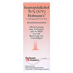 ISOPROPYLALKOHOL 70% V/V Hofmann's 100 Milliliter - Vorderseite