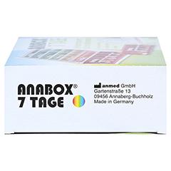 ANABOX 7 Tage Regenbogen m.Einnahmeplan 1 Stück - Linke Seite
