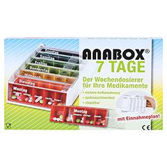 ANABOX 7 Tage Regenbogen m.Einnahmeplan 1 Stück - Vorderseite