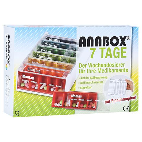 ANABOX 7 Tage Regenbogen m.Einnahmeplan 1 Stück