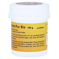 SHEABUTTER Bio Pur unraffiniert 100 Gramm - Linke Seite