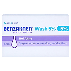Benzaknen Wash 5% 2x100 Gramm - Vorderseite