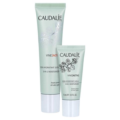 CAUDALIE VineActiv Hydratisierende 3in1 Pflege + gratis Caudalie VineActiv 3-in-1 Pflege 15ml 40 Milliliter