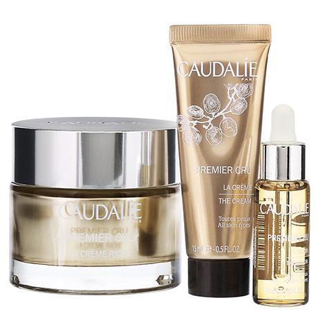 CAUDALIE Premier Cru Riche Creme + gratis CAUDALIE Premier Cru Augenpflege-Sets 50 Milliliter