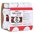 RESOURCE Junior Schokoladen-Geschmack flüssig 4x200 Milliliter