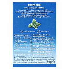 RICOLA AKTIV-FREI ohne Zucker Bonbons 50 Gramm - Rückseite