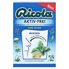 RICOLA AKTIV-FREI ohne Zucker Bonbons 50 Gramm - Vorderseite