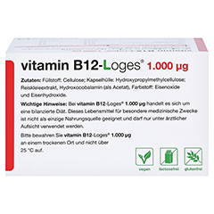 VITAMIN B12-LOGES 1.000 µg Kapseln 120 Stück - Oberseite
