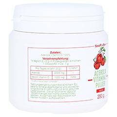ACEROLA VITAMIN C 1000 mg 100% Pulver 250 Gramm - Rechte Seite