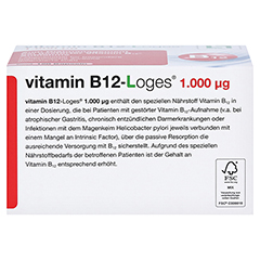 VITAMIN B12-LOGES 1.000 µg Kapseln 120 Stück - Unterseite