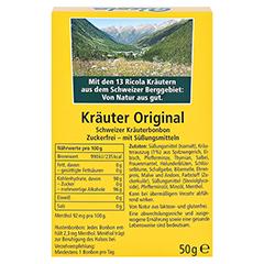 Ricola Kräuter Original Schweizer Kräuterbonbon zuckerfrei 50 Gramm - Rückseite
