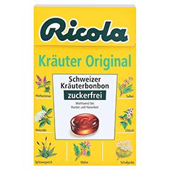 Ricola Kräuter Original Schweizer Kräuterbonbon zuckerfrei 50 Gramm - Vorderseite