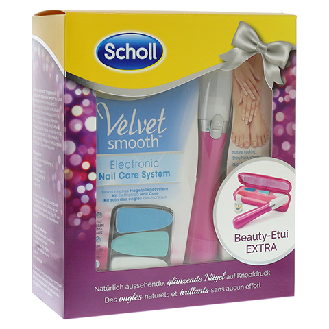 SCHOLL Velvet smooth elektr. Nagelpflegesystem pink 1 Stück