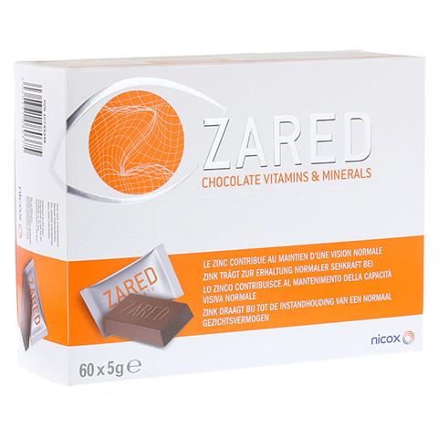 ZARED Chocolate Vitamins & Minerals Täfelchen 60x5 Gramm