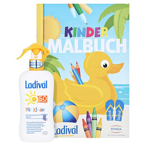 Ladival Kinder Spray LSF 50 + gratis Ladival Malheft 200 Milliliter