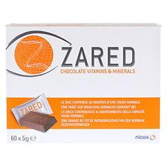 ZARED Chocolate Vitamins & Minerals Täfelchen 60x5 Gramm - Vorderseite