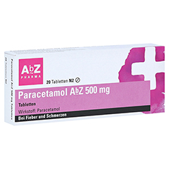 Paracetamol AbZ 500mg 20 Stück N2