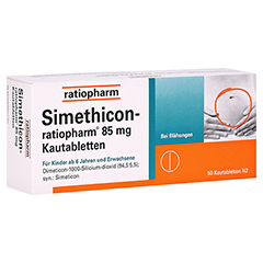 Simethicon-ratiopharm 85mg 50 Stück N2