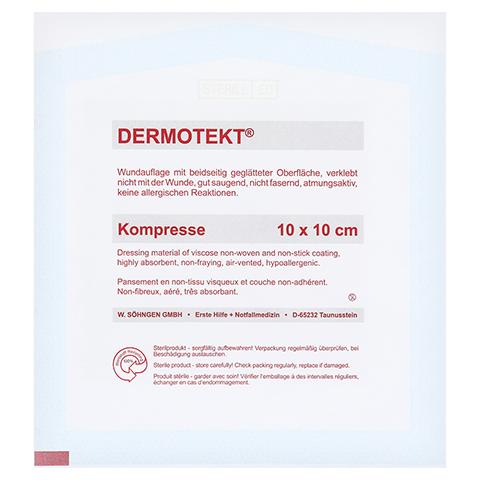 DERMOTEKT Kompresse V 10x10 cm 2 Stück