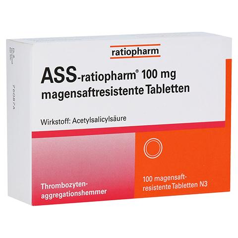 ASS-ratiopharm 100mg 100 Stück N3