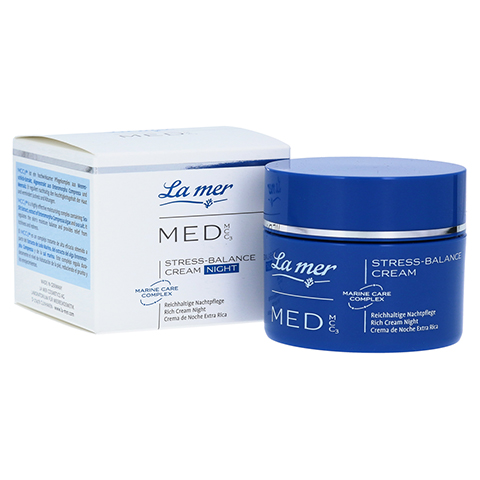 LA MER MED Stress-Balance Cream Nachtpflege o.P. 50 Milliliter