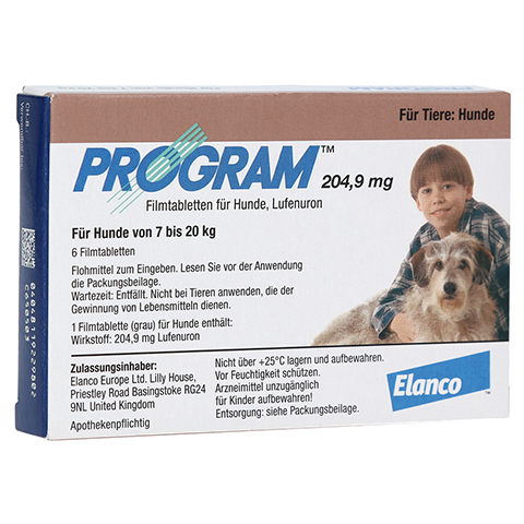 PROGRAM 204,9 mg 7-20 kg Tabl.f.Hunde 6 Stück