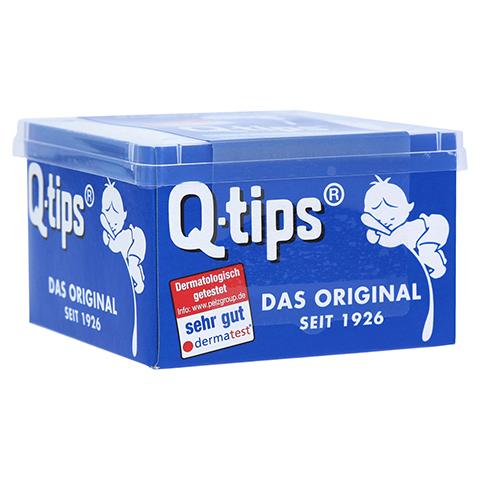 Q TIPS Wattestäbchen Würfelbox 206 Stück