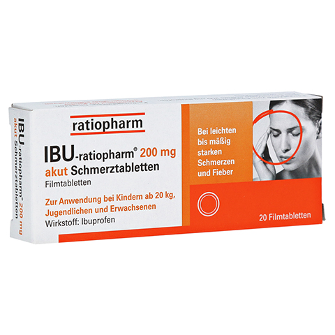 IBU-ratiopharm 200 akut Schmerztabletten 20 Stück
