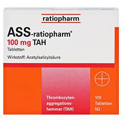 ASS-ratiopharm 100mg TAH 100 Stück N3 - Vorderseite