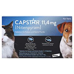 CAPSTAR 11,4 mg Tabletten f.Katzen/kleine Hunde 6 Stück - Vorderseite