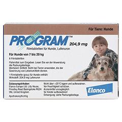 PROGRAM 204,9 mg 7-20 kg Tabl.f.Hunde 6 Stück - Vorderseite