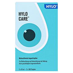 HYLO-CARE Augentropfen 2x10 Milliliter - Vorderseite