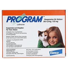 PROGRAM Suspens.f.Katzen b.4,5 kg/133 mg Ampullen 6 Stück - Vorderseite