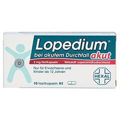 Lopedium akut bei akutem Durchfall 10 Stück N1 - Vorderseite