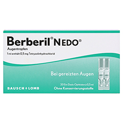 Berberil N EDO Augentropfen 20x0.5 Milliliter - Vorderseite