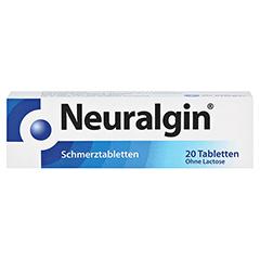 Neuralgin Schmerztabletten 250mg/200mg/50mg 20 Stück - Vorderseite