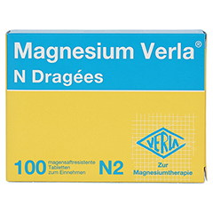 MAGNESIUM VERLA N Dragees 100 Stück N2 - Vorderseite
