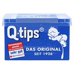 Q TIPS Wattestäbchen Würfelbox 206 Stück - Vorderseite