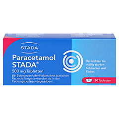 Paracetamol STADA 500mg 20 Stück N2 - Vorderseite