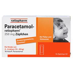 Paracetamol-ratiopharm 250mg 10 Stück N1 - Vorderseite