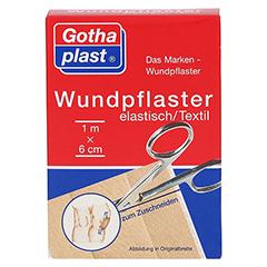 Gothaplast Wundpflaster elastisch 1mx6cm geschnitten 1 Stück - Vorderseite