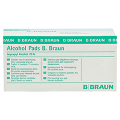 Alcohol Pads B. Braun Tupfer 100 Stück - Vorderseite
