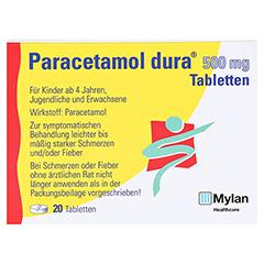Paracetamol dura 500mg 20 Stück N2 - Vorderseite